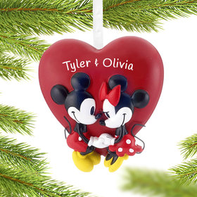 Personalized Mickey and Minnie Heart