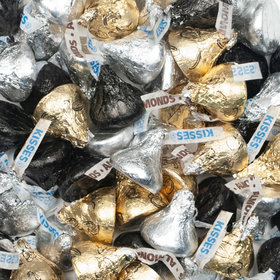 Hershey's Kisses Black, Silver & Gold Foil Candy