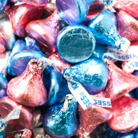 Hershey's Kisses Candy with Light Blue & Pink Foil