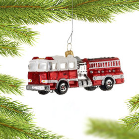 Personalized Fire Engine (White and Red)