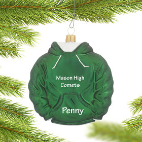 Personalized Green Hoodie Sweatshirt