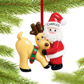 Personalized Santa and Reindeer