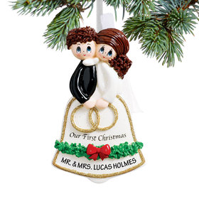 Personalized Our First Christmas Wedding Bell
