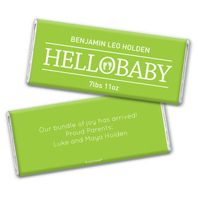 Personalized Hello Baby Birth Announcement Hershey's Chocolate Bar & Wrapper