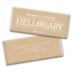 Personalized Hello Baby Birth Announcement Hershey's Chocolate Bar Wrappers