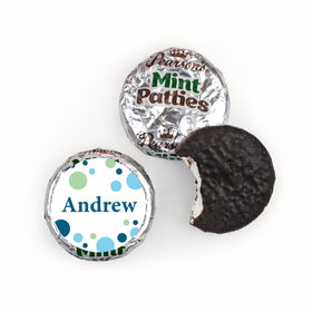 Baby Boy Announcement Personalized Pearson's Mint Patties Dots