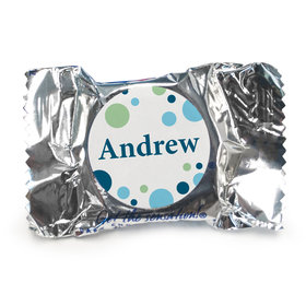 Baby Boy Announcement Personalized York Peppermint Patties Dots (84 Pack)