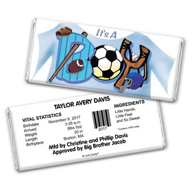 All Sports Personalized Candy Bar - Wrapper Only