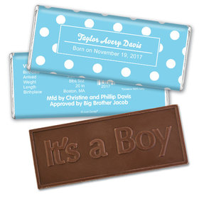 Prince DotsEmbossed It's a Boy Bar Personalized Embossed Chocolate Bar Assembled