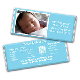 Baby Boy Snapshot Personalized Candy Bar - Wrapper Only