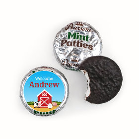 Baby Boy Announcement Personalized Pearson's Mint Patties Barnyard