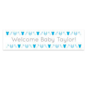 Personalized Boy Baby Announcement Welcome Banner