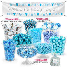Personalized Boy Birth Announcement Welcome Deluxe Candy Buffet