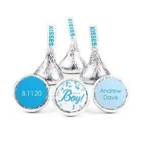 "Personalized 3/4"" Stickers - Birth Announcement It's A Boy Bubbles (108 Stickers)"