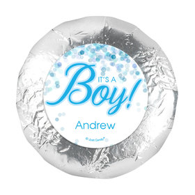 1.25in Stickers - Personalized Boy Birth Announcement Bubbles (48 Stickers)