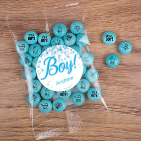 Personalized Boy Birth Announcement Candy Bag with JC Chocolate Minis - It's a Boy