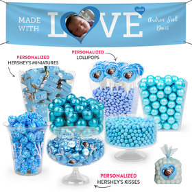 Personalized Boy Birth Announcement Love Deluxe Candy Buffet