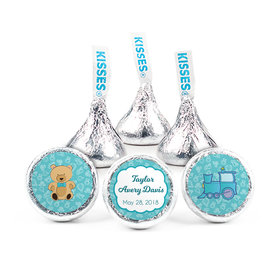 Personalized Boy Birth Announcement Teddy Bear Hershey's Kisses (50 pack)