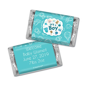 Personalized Hershey's Miniatures - Juliana Da Costa Birth Announcement It's a Boy Bundle of Joy