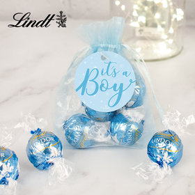 It's a Boy Lindt Truffle Organza Bag
