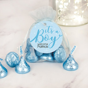 Personalized It's a Boy Hershey's Kisses Organza Bag