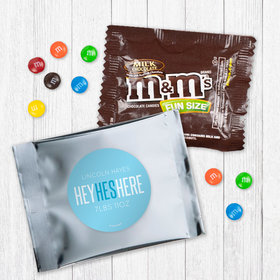 Personalized Boy Birth Announcement He's Here - Milk Chocolate M&Ms