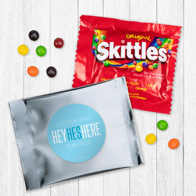 Personalized Boy Birth Announcement He's Here - Skittles