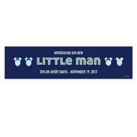Personalized Little Man Birth Announcement Banner
