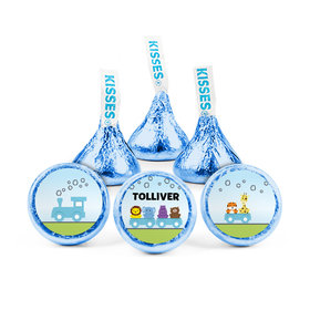 Personalized Boy Birth Announcement Safari Train Hershey's Kisses (50 pack)