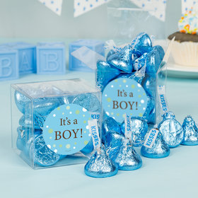 Baby Boy Bubbles Birth Announcement Clear Gift Box