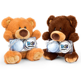 Personalized Birth Announcement Sporty It's a Boy Teddy Bear with Chocolate Covered Oreo 2pk