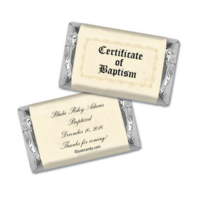 Baptism Certificate Personalized Miniature Wrappers