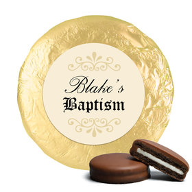 Baptism Certificate Milk Chocolate Covered Oreo Cookies Assembled
