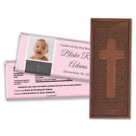 Baptism Personalized Embossed Cross Chocolate Bar Photo & Cross