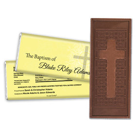 Baptism Personalized Embossed Cross Chocolate Bar Holy Cross