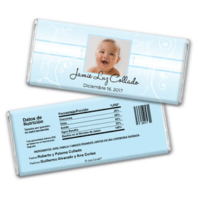 Baptism Personalized Chocolate Bar Foto del niño de Dios