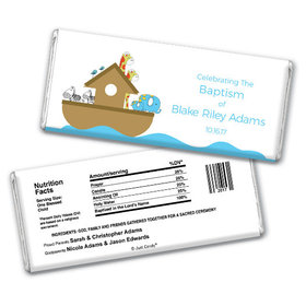 Baptism Personalized Chocolate Bar Noah's Ark