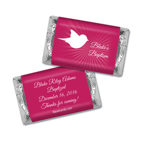 Baptism Personalized HERSHEY'S MINIATURES Wrappers Peace Doves