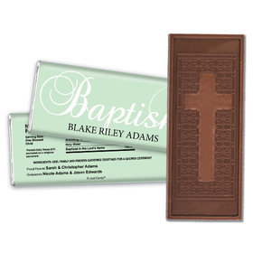 First Sacrament Personalized Embossed Cross Chocolate Bar
