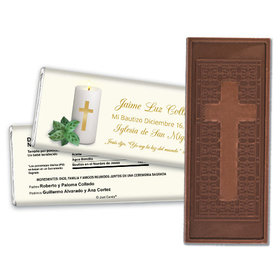 Luz del Mundo Personalized Embossed Cross Chocolate Bar