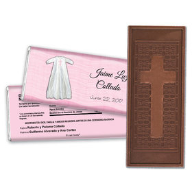 Cubierto de Fe Personalized Embossed Cross Chocolate Bar