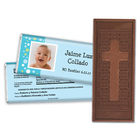 Puntos Coloridos Personalized Embossed Cross Chocolate Bar