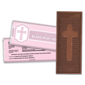 Classic Baptism Personalized Embossed Cross Chocolate Bar