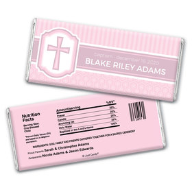 Classic Baptism Personalized Candy Bar - Wrapper Only