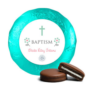 Blooming Life Baptism Favors Belgian Chocolate Covered Oreo Cookies Assembled (24 Pack)