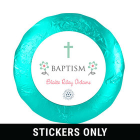 "Blooming Life Baptism Favors 1.25"" Sticker (48 Stickers)"