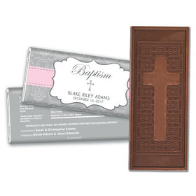 Remembrance Baptism Personalized Embossed Cross Chocolate Bar