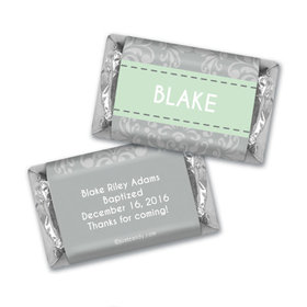 Fluer de Lis Cross Baptism Personalized Miniature Wrappers