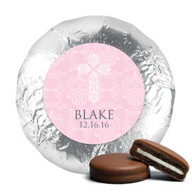 Blessed Baptism Favors Belgian Chocolate Covered Oreo Cookies Assembled (24 Pack)