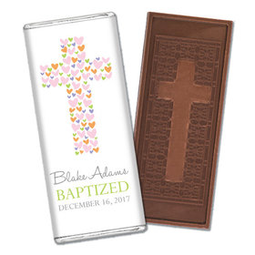 Sweet Sacrament Baptism Personalized Embossed Cross Chocolate Bar